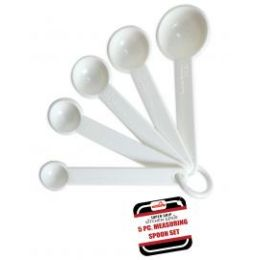 144 Units of 5 Piece Measuring Spoon Set - Measuring Cups and Spoons
