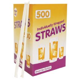 12 Units of 500 Count Drinking Straw - Straws and Stirrers