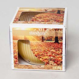 48 Bulk Candle Scented 3 Oz Window Boxed Autumn Air