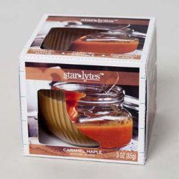 48 Bulk Candle Scented 3 Oz Window Boxed Caramel Maple