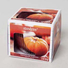 288 Bulk Candle Scented 3 Oz Window Boxed Farmhouse Pumpkin