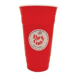 36 Units of Plastic Cup 32 Oz Double Wall Insulated Red Jumbo - Plastic Drinkware