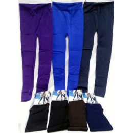 12 of Women's Leggings In Assorted Solid Colors