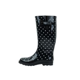 12 Units of Ladies Polka Dot Rubber Rain Boots (13 Inches Tall) - Women's Boots