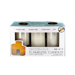 6 Bulk Flameless Vanilla Candles With Remote Control