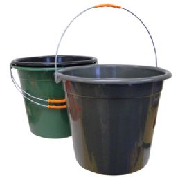24 Units of Plastic Pail With Metal Handle - Buckets & Basins