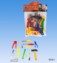 48 Units of Tool Set In Pvc Bag Header Card - Toy Sets