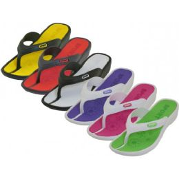 36 Units of Lady Sport Thong Sandal Assorted Color Size 6-11 - Women's Sandals