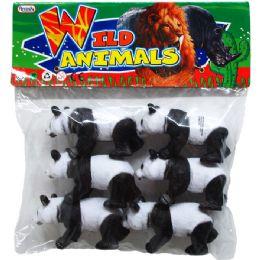 24 Units of Six Piece Plastic Toy Panda - Animals & Reptiles