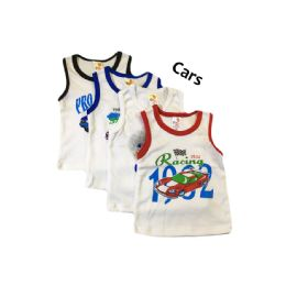 60 Units of Strawberry Boys Infant Tank Top - Baby Apparel