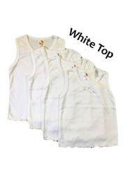 36 Units of Strawberry Girl Singlet In White - Baby Apparel