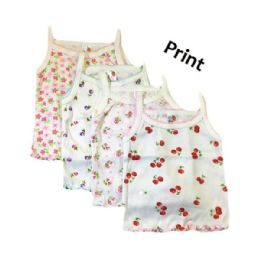 36 Units of Strawberry Girl Infant Spaghetti Strap Singlet 0-9 Months In White - Girls Tank Tops and Tee Shirts