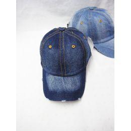 24 Units of Plain Denim Baseball Cap - Baseball Caps & Snap Backs