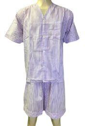 48 Units of Comfort Zone Mens Short Leg Pajamas - Mens Pajamas