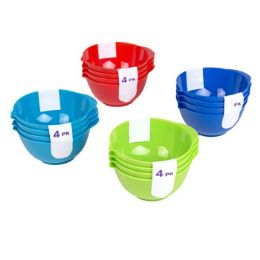 72 Units of 4 Pack Mini Bowls - Measuring Cups and Spoons
