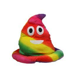 20 Units of Plush Soft Rainbow Laughing Emoji Pointed Ski Hat - Winter Animal Hats