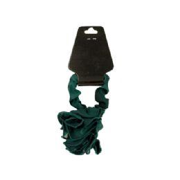 108 Bulk Chiffon Hair Twister With Ruffle Rose Accent