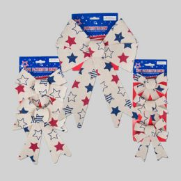 72 Units of Bow Patriotic 3asst Sizes Vintage Look - 4th Of July