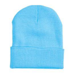 48 Units of Ski Beanie In Sky Blue - Winter Beanie Hats