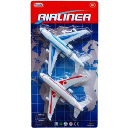 96 Units of 2 Piece Airliners Set - Cars, Planes, Trains & Bikes