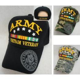 12 Wholesale Licensed Army [vietnam Veteran] *assorted Colors