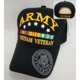 12 Wholesale Licensed Army [vietnam Veteran] *black Only