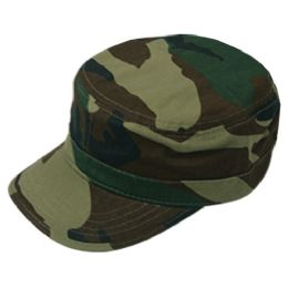 24 Wholesale Fitted Army Military Cadet In Camo Green