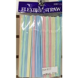 50 Units of 200 Pack Flexible Straws - Straws and Stirrers