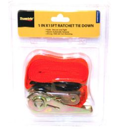 48 Units of 1 In X15ft Ratchet Tie Down - Hardware Products