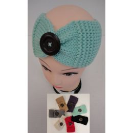 48 Units of Hand Knitted Ear Band [lg Button] Loop - Ear Warmers
