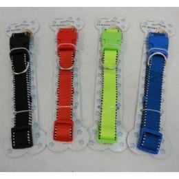 "24 Units of 21"" Nylon Buckled Dog Collar [solid Color]-Mediu - Pet Accessories"