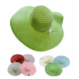 24 Units of Woman's Large Woven Hat - Sun Hats