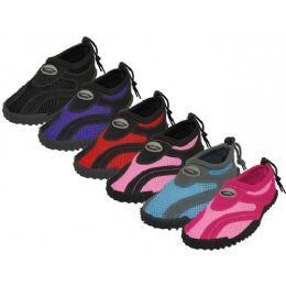 "36 Units of Wholesale Women's ""wave"" Water Shoes - Women's Aqua Socks"