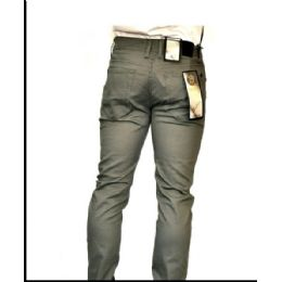 12 Units of Chino Stretch 100% Viscose Brushed Fabric Gray Only - Mens Pants