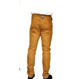 12 Units of Chino Stretch Viscose Fabric 100% Cotton Tan Only - Mens Pants