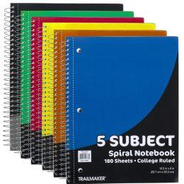 24 Bulk Wire Notebook - 5 Subject Notebook