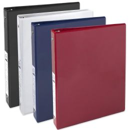 24 Units of 1 Inch Binder With Two Pockets - Assorted - Clipboards and Binders
