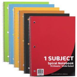 48 Bulk Wire Notebook - 70 Pages - Wide Ruled