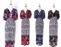 36 Units of Womens Plus Size Fashion Sun Dresses Assorted Colors And Sizes Summer Dresses - Womens Sundresses & Fashion