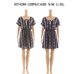 60 Units of Womens Fashion Short Summer Dress In Assorted Sizes - Womens Rompers & Outfit Sets