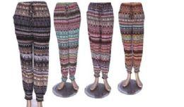 60 Units of Ladies Printed Lounge Pants Summer Pants Cotton Blend - Womens Pants