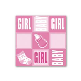 """96 Units of Napkin Girl 13x13""""/8 Count - Baby Shower"""