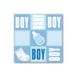 """96 Units of Napkin Boy 13x13""""/ 8 Count - Baby Shower"""