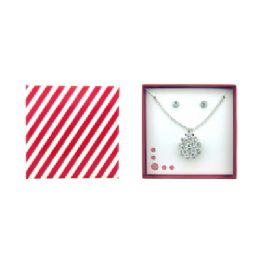 36 Bulk Flower Shaped Necklace And Earring Gift Box Set