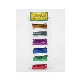 108 Units of Metallic Twist Tie - Craft Wood Sticks and Dowels