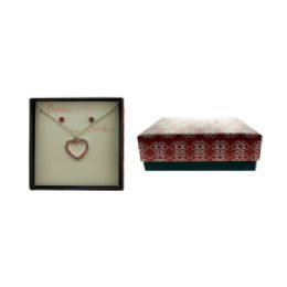 36 Units of Necklace And Earring Gift Box Set October - Jewelry Box