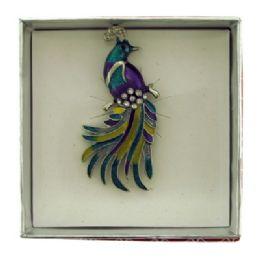 36 Bulk Peacock Pin With Gift Box
