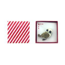 36 Bulk White Owl Pin