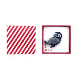 36 Units of Black Owl Pin - Jewelry Box