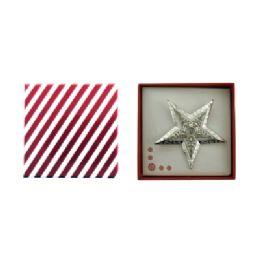 36 Bulk Star Pin With Gift Box